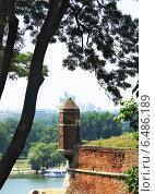 Крепость Калемегдан Белград на месте слияния рек Дуная и Савы. Редакционное фото, фотограф masebora / Фотобанк Лори
