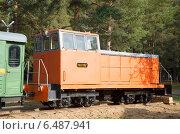 Купить «Узкоколейный тепловоз ТУ-8 на выставке лесозаготовительной техники в г. Шарья Косторомской области», фото № 6487941, снято 6 августа 2020 г. (c) Виктор Карасев / Фотобанк Лори
