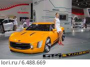 Купить «KIA Stinger GT 4 на ММАС 2014», фото № 6488669, снято 3 сентября 2014 г. (c) Алексей Назаров / Фотобанк Лори