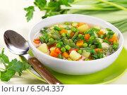 Похлёбка из варёных овощей. Стоковое фото, фотограф Александр Курлович / Фотобанк Лори
