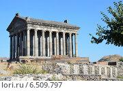 Купить «Армения, языческий храм Солнца в Гарни, I век», фото № 6509797, снято 11 сентября 2014 г. (c) Овчинникова Ирина / Фотобанк Лори