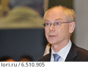 Купить «Herman van Rompuy», фото № 6510905, снято 10 декабря 2009 г. (c) Caro Photoagency / Фотобанк Лори