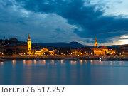 Ночной Будапешт. Вид на Буду (2014 год). Редакционное фото, фотограф Сластникова Татьяна / Фотобанк Лори