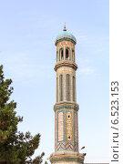 Мечеть Хаджи Якуб. Башня-минарет. Таджикистан. Душанбе. (2014 год). Стоковое фото, фотограф Никита Майков / Фотобанк Лори