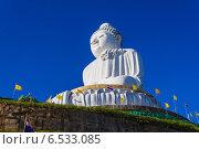 Купить «Большой Будда. Монумент в Тайланде на острове Пхукет», фото № 6533085, снято 14 февраля 2013 г. (c) Олег Жуков / Фотобанк Лори
