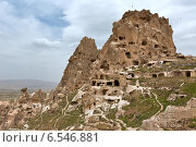 Замок Ушичар в Каппадокии (2014 год). Стоковое фото, фотограф Катерина Вахе / Фотобанк Лори