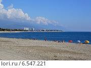 Купить «Пляж в Олимпийском парке Сочи», фото № 6547221, снято 13 сентября 2014 г. (c) Александр Замараев / Фотобанк Лори