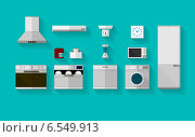Купить «Плоские иконки на тему домашнего хозяйства», иллюстрация № 6549913 (c) Oleksandr Yershov / Фотобанк Лори