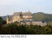 Купить «Замок Вианден, Люксембург», фото № 6550813, снято 4 октября 2014 г. (c) Татьяна Крамаревская / Фотобанк Лори