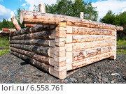 Деревянный бревенчатый сруб для бани. Стоковое фото, фотограф Дмитрий Шульгин / Фотобанк Лори