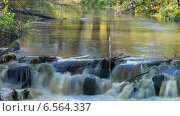 Купить «Каскад реки, таймлапс, длинная выдержка, осенний парк», видеоролик № 6564337, снято 20 октября 2014 г. (c) Кекяляйнен Андрей / Фотобанк Лори