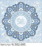 Купить «Круглый цветочный фон», иллюстрация № 6582685 (c) Олеся Каракоця / Фотобанк Лори