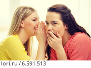 Купить «one girl telling another secret», фото № 6591513, снято 12 апреля 2014 г. (c) Syda Productions / Фотобанк Лори