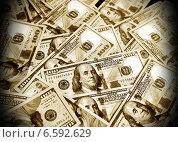 Купить «Американские доллары, фон», фото № 6592629, снято 7 августа 2013 г. (c) ElenArt / Фотобанк Лори