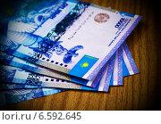 Купить «Деньги Казахстана (тенге)», фото № 6592645, снято 7 августа 2013 г. (c) ElenArt / Фотобанк Лори