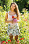 Female florist in summer garden, фото № 6592697, снято 5 августа 2014 г. (c) Яков Филимонов / Фотобанк Лори