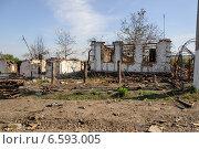 Разрушенный дом, село Степановка (2014 год). Стоковое фото, фотограф Копылов Сергей / Фотобанк Лори