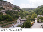 Купить «Вид на Свято-Успенский монастырь. Бахчисарай.», фото № 6593389, снято 22 августа 2014 г. (c) Полина Бойко / Фотобанк Лори