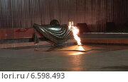 Купить «Вечный огонь на могиле Неизвестного солдата в Александровском саду. Москва», видеоролик № 6598493, снято 29 октября 2014 г. (c) Наталья Волкова / Фотобанк Лори
