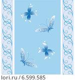 Текстура с цветками и бабочками. Стоковая иллюстрация, иллюстратор Сергей Старкин / Фотобанк Лори
