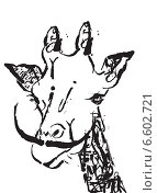Жираф и усы. Стоковая иллюстрация, иллюстратор Борисенко Анастасия / Фотобанк Лори