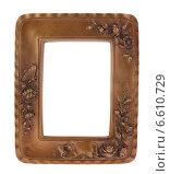 Резная золотая рамка для фотографий. Стоковое фото, фотограф Vladnad / Фотобанк Лори