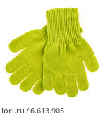 Купить «knitted woolen baby gloves», фото № 6613905, снято 22 августа 2014 г. (c) Андрей Армягов / Фотобанк Лори
