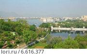 Купить «Панорама Удайпура», видеоролик № 6616377, снято 27 сентября 2014 г. (c) Игорь Жоров / Фотобанк Лори