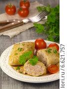 Купить «Голубцы с рисом и мясом», эксклюзивное фото № 6621757, снято 26 февраля 2013 г. (c) Александр Курлович / Фотобанк Лори