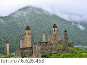 Купить «Замковый комплекс Эрзи, Ингушетия. 9 век н.э.», фото № 6626453, снято 29 июня 2014 г. (c) Андрей Фоминых / Фотобанк Лори