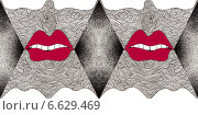 Красные губы. Стоковая иллюстрация, иллюстратор Борисенко Анастасия / Фотобанк Лори