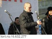 Купить «Сергей Удальцов на митинге», фото № 6632277, снято 10 марта 2012 г. (c) Олег Козырев / Фотобанк Лори