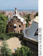 Купить «Парк Гуэль , Барселона», фото № 6638705, снято 18 августа 2014 г. (c) Федюнин Александр / Фотобанк Лори