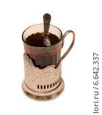 Стакан с чаем в подстаканнике. Стоковое фото, фотограф Vladimir  Zeichev / Фотобанк Лори