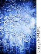 Купить «Морозный природный узор на стекле», фото № 6644845, снято 24 декабря 2009 г. (c) ElenArt / Фотобанк Лори