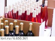 Купить «wine bottles», фото № 6650361, снято 15 августа 2014 г. (c) Яков Филимонов / Фотобанк Лори