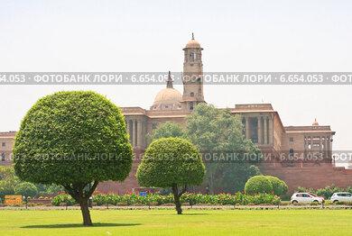 Резиденция президента Индии. Нью-Дели