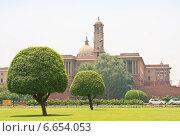 Резиденция президента Индии. Нью-Дели (2014 год). Стоковое фото, фотограф Николай Коржов / Фотобанк Лори