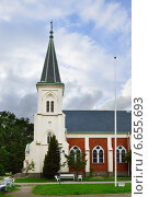 Mikaelskyrkan (Михайловская церковь), Уппсала, Швеция (2014 год). Стоковое фото, фотограф Валерия Попова / Фотобанк Лори