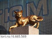 Купить «Памятник кошкам. Сквер сибирских кошек. Город Тюмень», эксклюзивное фото № 6665569, снято 8 октября 2014 г. (c) Валерий Акулич / Фотобанк Лори