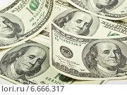 Купить «Американские доллары лежат на столе», фото № 6666317, снято 9 ноября 2014 г. (c) Валерий Бочкарев / Фотобанк Лори