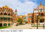 Купить «Hospital de la Santa Creu i Sant Pau in Barcelona», фото № 6667181, снято 24 февраля 2019 г. (c) Яков Филимонов / Фотобанк Лори