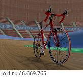 Шоссейный велосипед на треке. Редакционная иллюстрация, иллюстратор Иван Балакирев / Фотобанк Лори