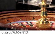 Купить «Рулетка в казино», видеоролик № 6669813, снято 11 ноября 2014 г. (c) Александр Саенко / Фотобанк Лори