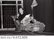 Петр Мамонов в музыкальном спектакле. Редакционное фото, фотограф Алексей Кузнецов / Фотобанк Лори