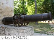 Купить «Старинная пушка у Русских ворот в Анапе», эксклюзивное фото № 6672753, снято 21 июля 2011 г. (c) Алексей Гусев / Фотобанк Лори