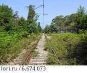 Купить «Абхазская железная дорога. Район Агудзеры», фото № 6674073, снято 8 августа 2006 г. (c) Евгений Ткачёв / Фотобанк Лори