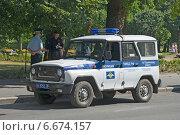 Купить «Автомобиль полиции», эксклюзивное фото № 6674157, снято 3 августа 2014 г. (c) Александр Щепин / Фотобанк Лори