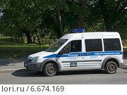 Купить «Автомобиль полиции», эксклюзивное фото № 6674169, снято 3 августа 2014 г. (c) Александр Щепин / Фотобанк Лори