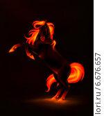 Купить «Огненный конь», иллюстрация № 6676657 (c) Анастасия Некрасова / Фотобанк Лори